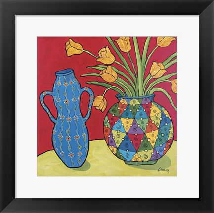 Framed Two Vases Print