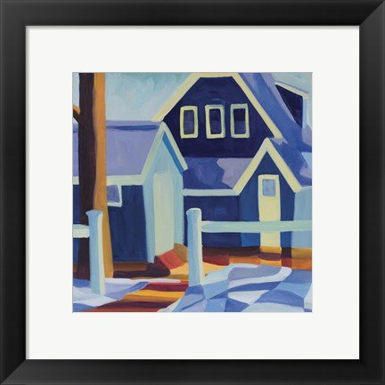 Framed Blue House Little John Print