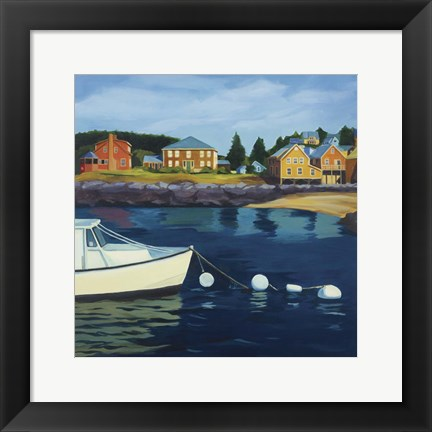 Framed Monhegan Harbor Print