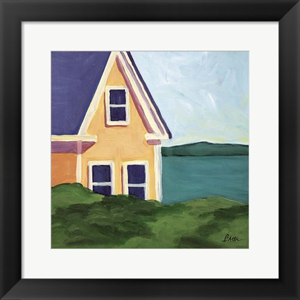 Framed Yellow House Print