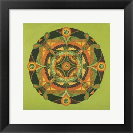 Framed Autumn Mandala Print