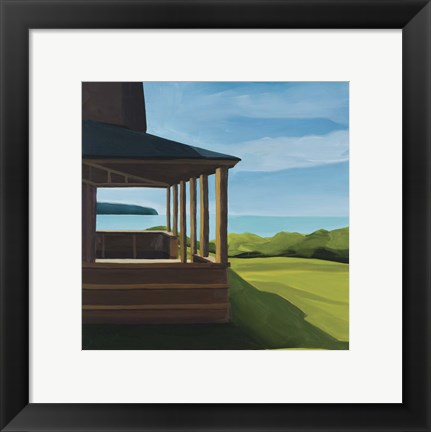 Framed Bustins Island Shadows Print