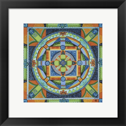 Framed Happiness Mandala Print