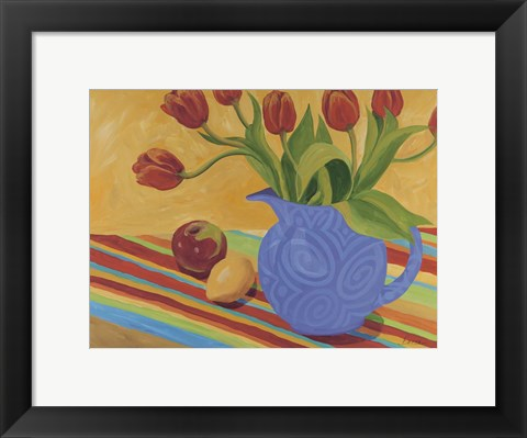 Framed Striped Tablecloth Print