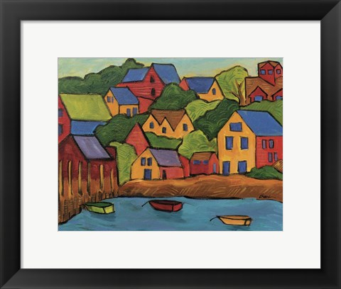 Framed Funky Harbor Print