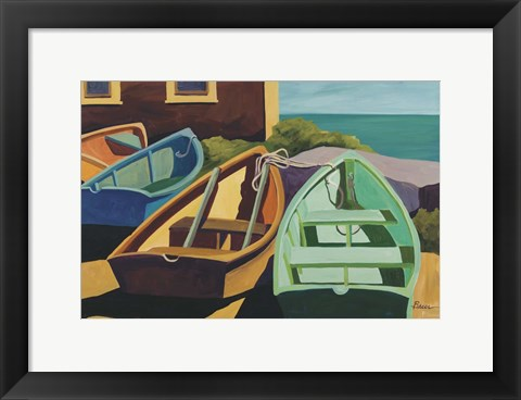 Framed Beached Boats Print