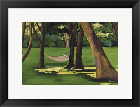 Framed Hammock Martha's Vineyard Print