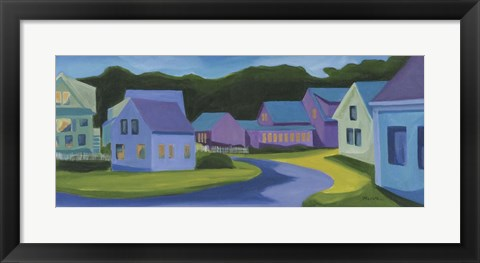Framed Twilight Clamshell Alley Print