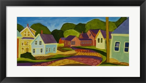 Framed Clamshell Alley Print