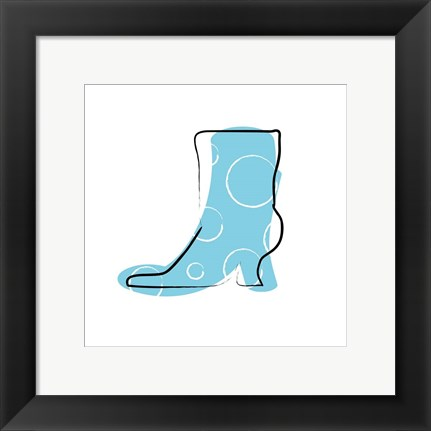 Framed Blue Boot Print