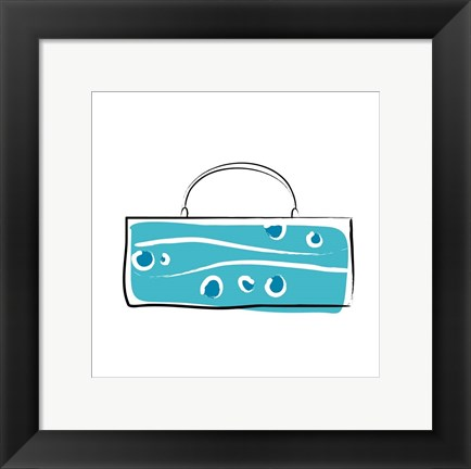 Framed Blue Purse Print