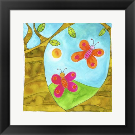 Framed Butterflies Print