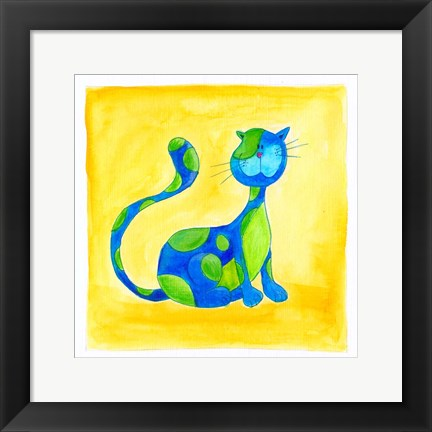 Framed Cat 3 Print