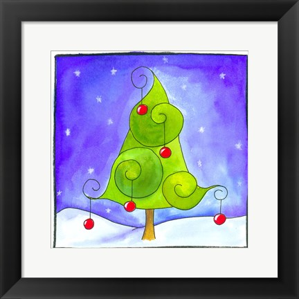 Framed Christmas Tree Print