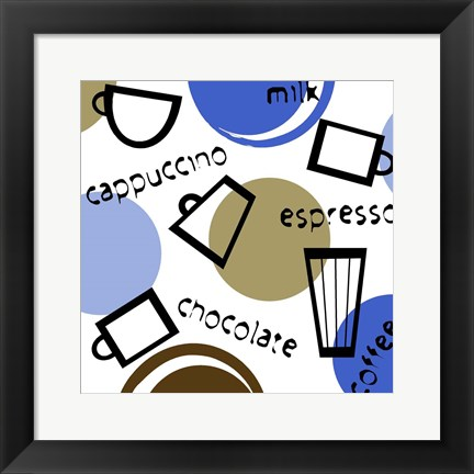 Framed Coffees Print