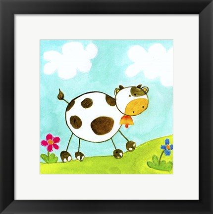 Framed Cow Print