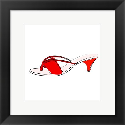 Framed Red Sandal Print