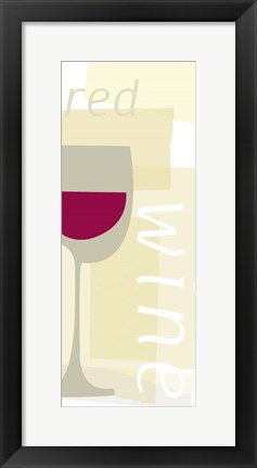 Framed Red Wine Print