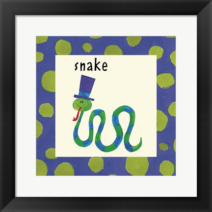 Framed Snake with Border Print