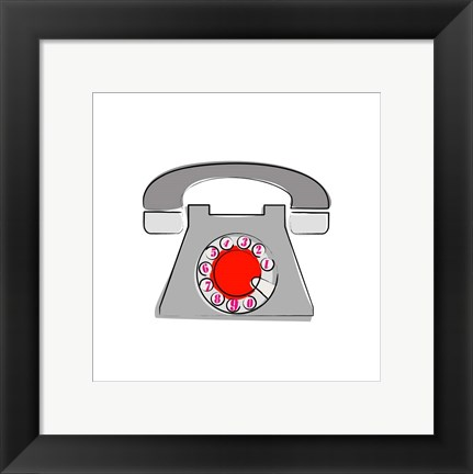 Framed Telephone 1 Print