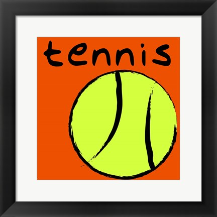 Framed Tennis Print