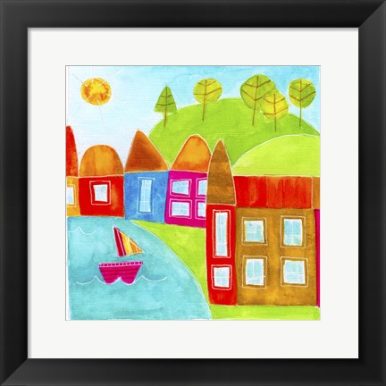 Framed Village 4 Print