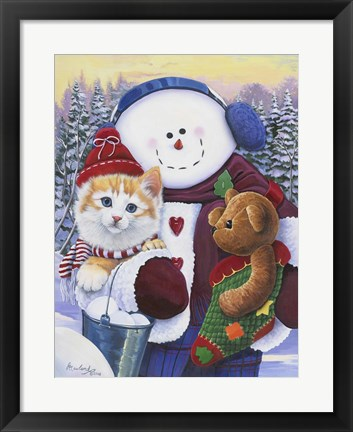Framed Winter Wonder Pals Print