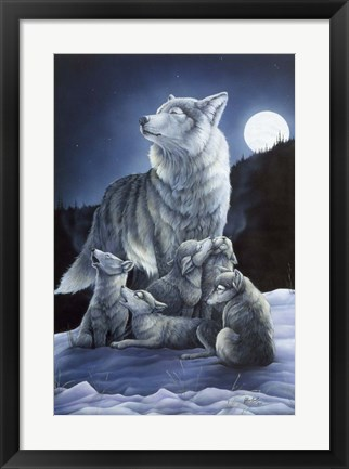 Framed Howling Lessons Print