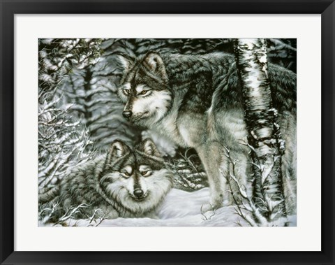 Framed Winter Companions Print