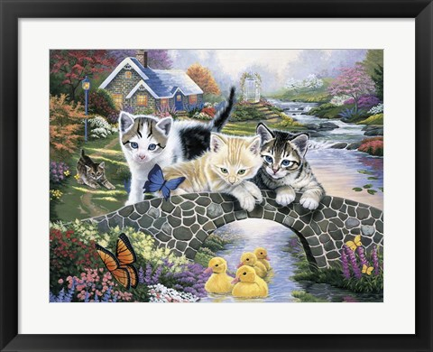 Framed Purrfect Day Print