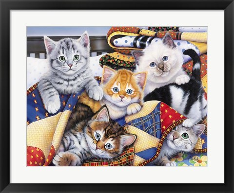 Framed Cozy Kittens Print