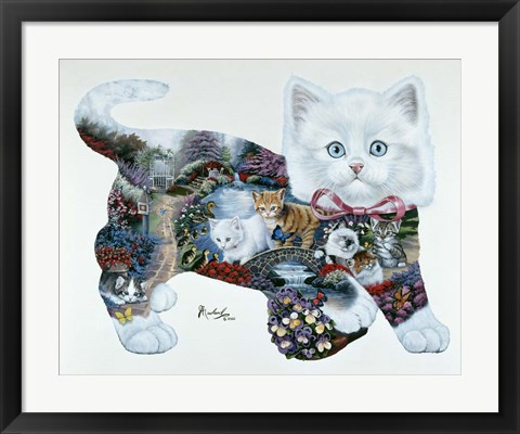 Framed Kitten Tales Print