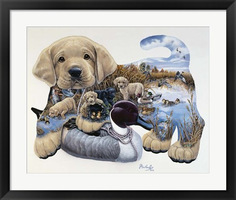 Framed Sweet Puppy Tales Print