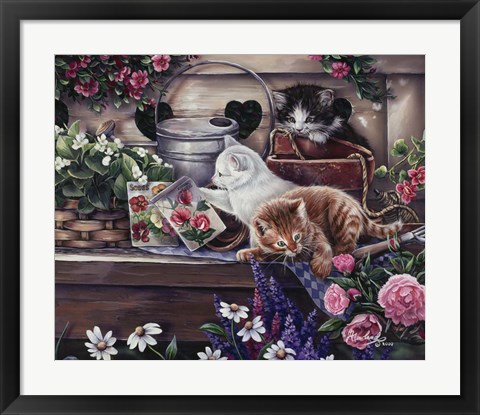 Framed Playful Kittens Print