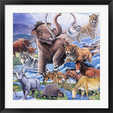 Framed Ice Age Color Print