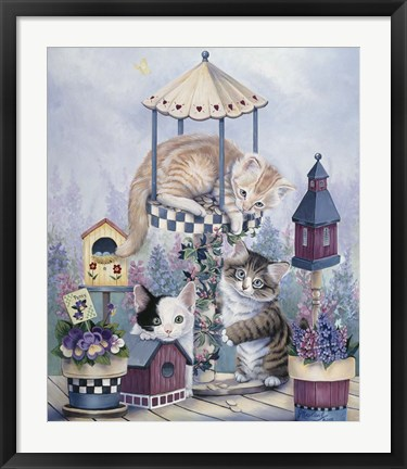 Framed Cat Carousel Print