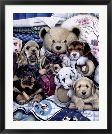 Framed Puppy Party Print