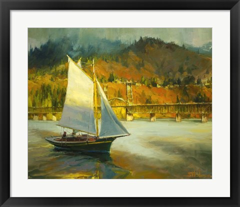 Framed Autumn Sail Print