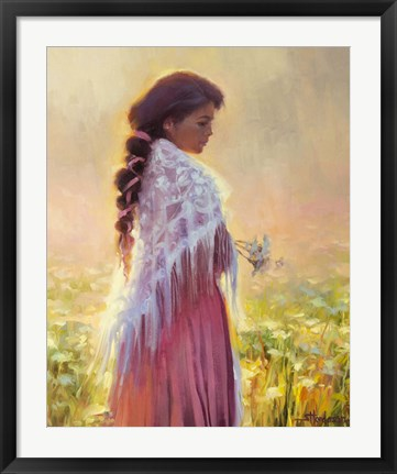 Framed Queen Annes Lace Print