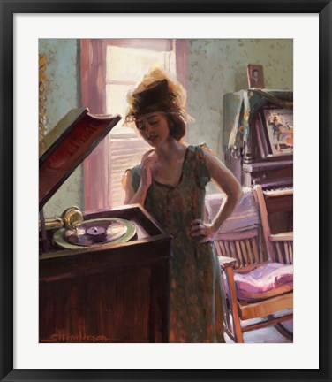 Framed Phonograph Days Print