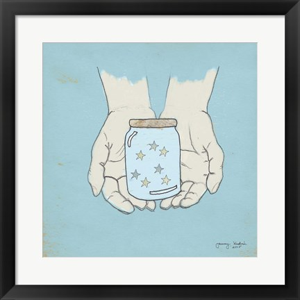 Framed Jar Of Wishes Blue Print