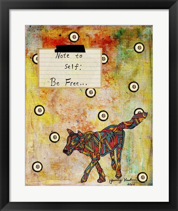 Framed Note To Self - Be Free Print
