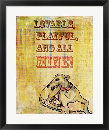 Framed Playful, Lovable Print