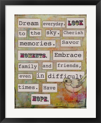Framed Dream Everyday Print