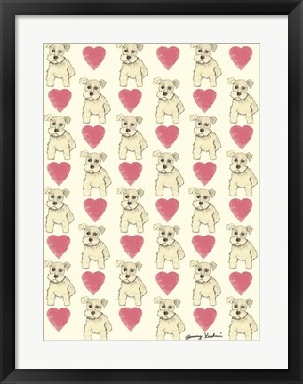 Framed Dog Pattern Print