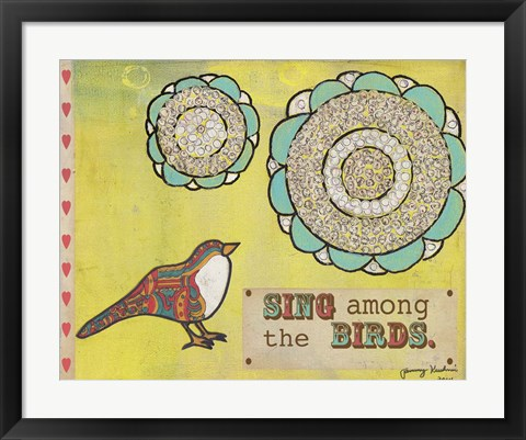 Framed Sing Among The Birds Print