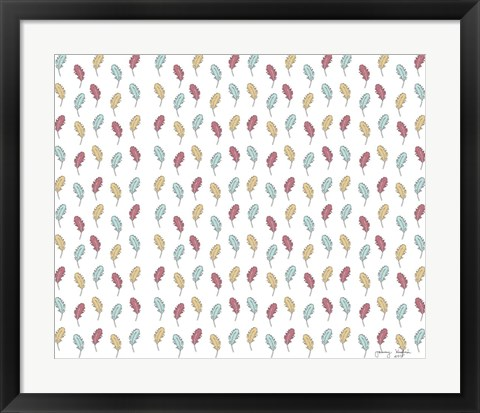 Framed Feather Pattern Print