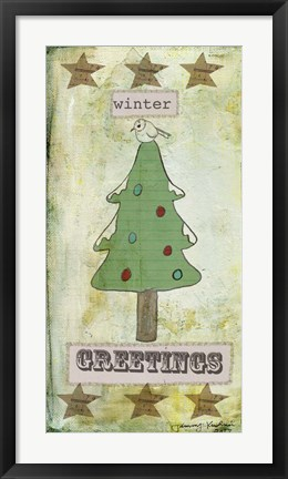 Framed Winter Greetings Print