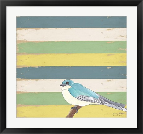 Framed Little Blue Bird Print