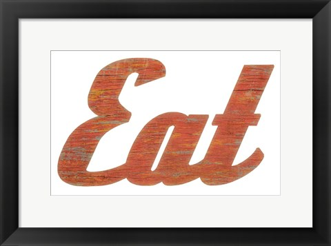 Framed EAT Script Cut Out Print